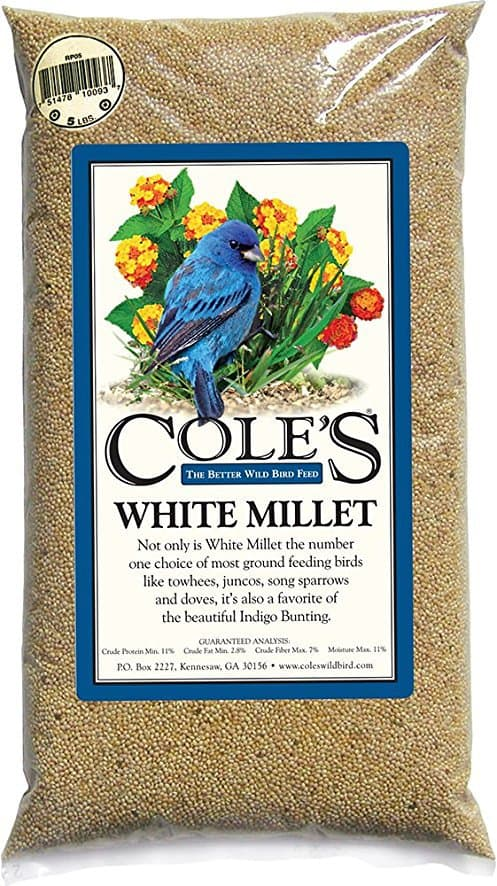 Cole's Wild Bird Products MI20 White Millet Bird Seed