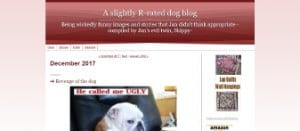 A slightly R rated dog blog