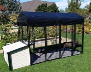 K9 Condo 4' X 8' Dog Run With K9 Cabin