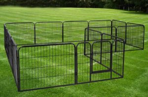 Large 16 Panels Pet Dog Cat Metal Exercise Barrier Fence Playpen Kennel