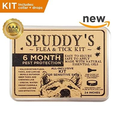Spuddy's Premium Flea and Tick Prevention Collar for Dogs