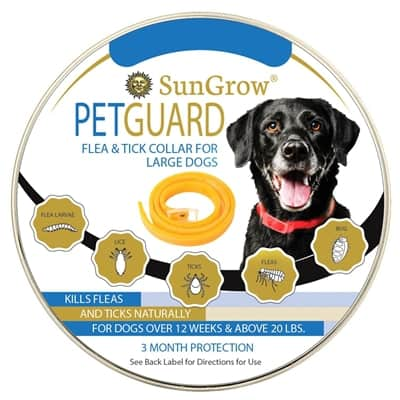 SunGrow Flea and Tick Collar for Large Dogs