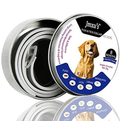 HELLOSAM Flea and Tick Prevention Collar for Large Dog