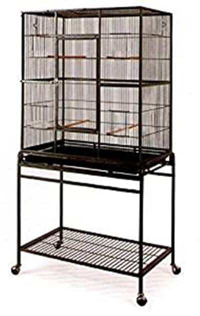 Mcage Large Wrought Iron Flight Canary Parakeet Cockatiel Lovebird Finch Sugar Glider Cage