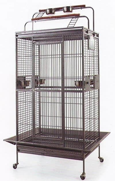 Mcage New Large Wrought Iron Bird Parrot Cage