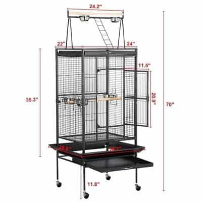 Yaheetech Pet Bird Cage