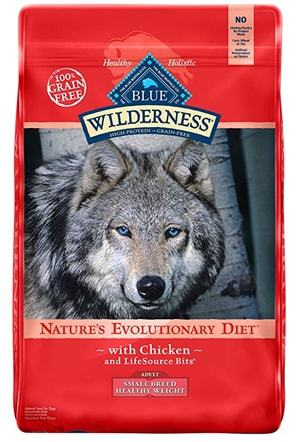 BLUE Wilderness High Protein Grain Free Adult Dry Dog Food Small Breed Healthy Weight Formula