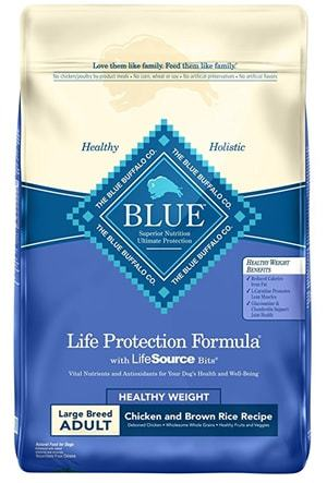 Blue Buffalo BLUE Life Protection Formula Adult Dry Dog Food Large Breed Healthy Weight Chicken and Brown Rice