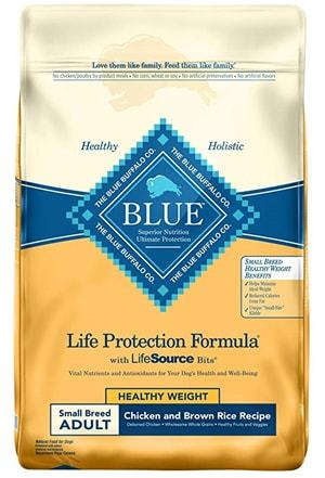 Blue Buffalo BLUE Life Protection Formula Adult Dry Dog Food Small Breed Healthy Weight Chicken
