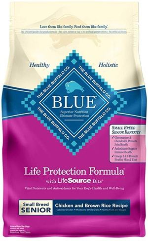 Blue Life Protection Formula Senior Small Breed Chicken and Brown Rice Dry Dog Food