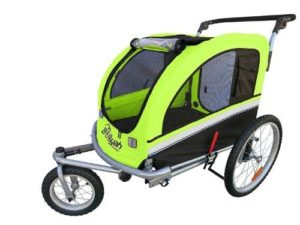 Booyah Large Pet Bike Trailer Dog Stroller & Jogger with Shocks MB-min