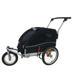 Booyah Medium Dog Stroller & Pet Bike Trailer with Suspension-min