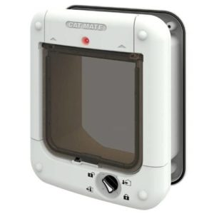 Cat Mate Microchip Cat Flap, White (360w)-min