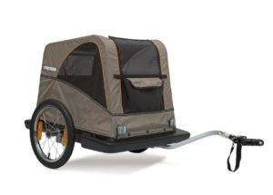 Croozer Premium Bike Dog Trailer, The Pet for both Cycling and Strolling up to 100lb Dogs-min