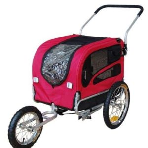 Doggyhut Medium Pet Bike Trailer Jogger Kit Dog Bicycle Carrier Red 7030101-min