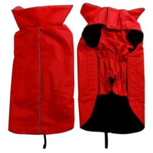 Fleece Lined Warm Dog Jacket for Winter Outdoor Waterproof Reflective Dog Coat-min