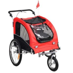 Giantex Pet Dog Bike Trailer Bicycle Trailer Stroller Jogging w Suspension-min