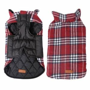Kimfoxes Pet Dog Jacket Vest Windproof Garment Waterproof Snowproof Clothing Waistcoat-min