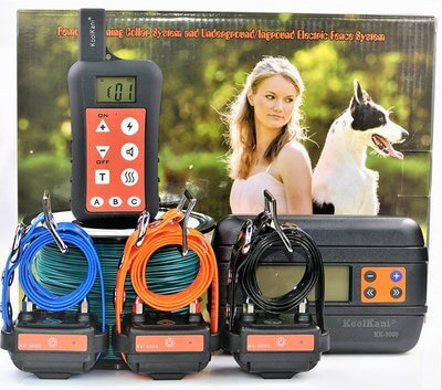 KoolKani Remote Dog Training Shock Collar & Underground/In-ground Electronic Dog Containment Fence System Combo