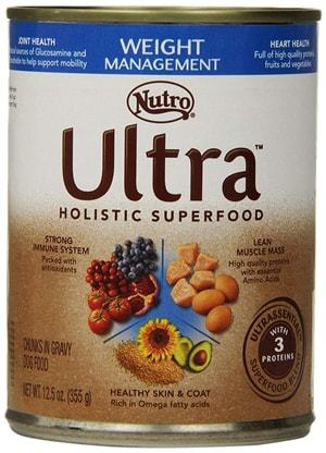 Nutro Ultra Chunks in Gravy Canned Dog Food Weight Management Formula