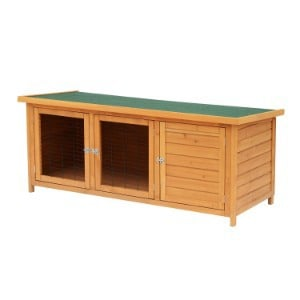 "PawHut 60"" Wooden Outdoor Rabbit Hutch"