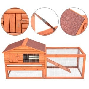 "Pawhut 62"" Large Outdoor Rabbit Hutch"