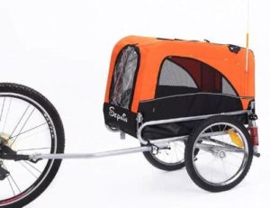 Sepnine 2 in 1 Small Sized Comfortable Bike Trailer Bicycle Pet Trailer Dog Cage 10308S-min