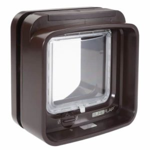 SureFlap Microchip DualScan Cat Flap in Brown-min