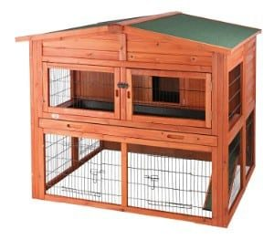 TRIXIE 2-Story Rabbit Hutch with Attic