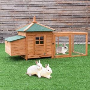 "Tangkula 78"" Rabbit Hutch"