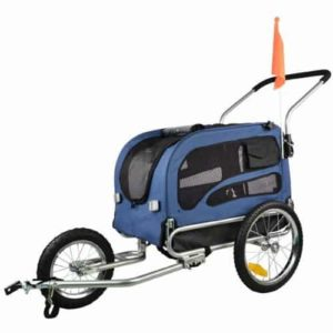 Veelar Doggyhut Medium Pet Bike Trailer Jogger Kit Dog Bicycle Carrier Blue 7030102-min