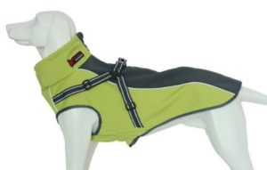 Xanday Dog Jacket with Harness, Windproof Dog Vest with Reflective Strips for Medium Large Dogs-min