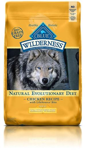 BLUE Wilderness High Protein Grain Free Adult Dry Dog Food Healthy Weight Chicken Recipe