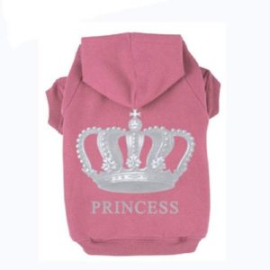expawlorer prncess dog cat fleece sweatshrt