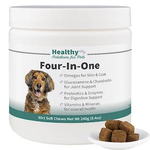 Healthy Solutions for Pets, Dog Vitamins, Four-In-One Complete Health Supplement