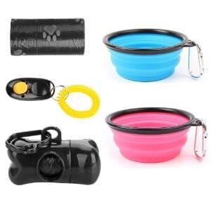 AigouSet of 2 Portable Travel Dog Bowls
