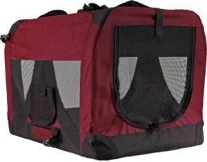 Discount Ramps Red Soft-Sided Medium Folding Pet Travel Crate