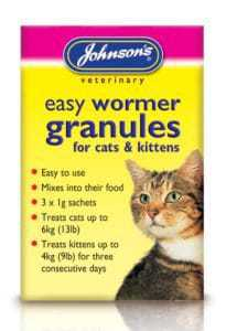 Johnsons Easy Wormer Granules For Cats & Kittens