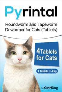 Pyrintal Roundworm and Tapeworm Dewormer for Cats