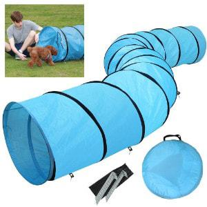 Yaheetech Pet Dog Agility Obedience Training Tunnel Blue