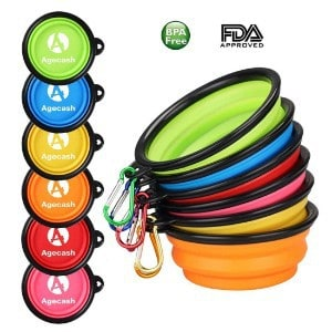 Agecash Collapsible Dog Bowl