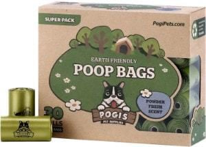 Pogi's Poop Bags - Earth-Friendly Scented Leak-Proof Dog Waste Bags