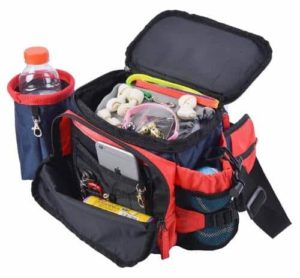 BINGPET Dog Travel Bag Tote Training Treat Pouch