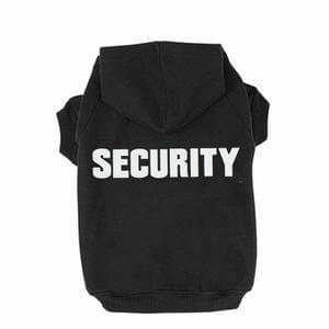 BINGPET Security Patterns Printed Puppy Pet Hoodie Dog Clothes