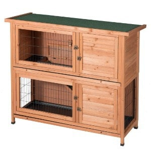 GOOD LIFE Two Floor Wooden Rabbit Cage