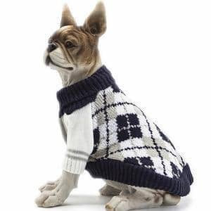 HAPEE Pet Clothes the Diamond Plaid Cat Dog Sweater