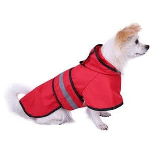 HDE Dog Raincoat Hooded Slicker Poncho