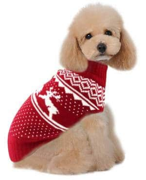 Holiday Christmas Reindeer Vintage Classic Dog Sweater