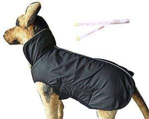 PETCEE Dog JacketWaterproof Fleece Lined Reflective Jacket