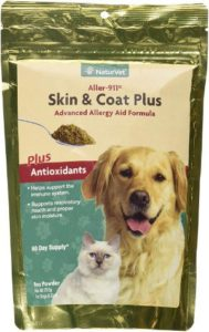 Aller-911 Skin & Coat Plus Advanced Allergy Aid Supplement Powder for Dogs & Cats